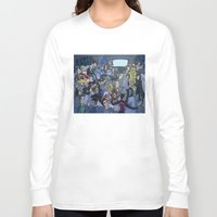 tv Long Sleeve T-shirts featuring TV by Anna Rettberg
