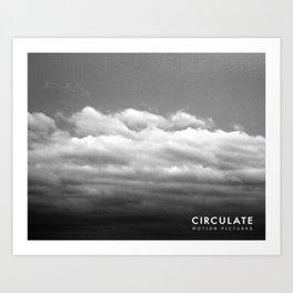 Circulate - Clouds Art Print