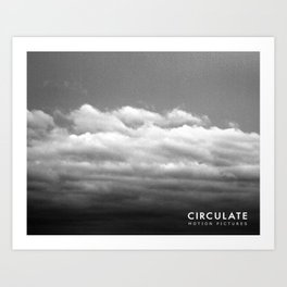 Circulate - Clouds Art Print