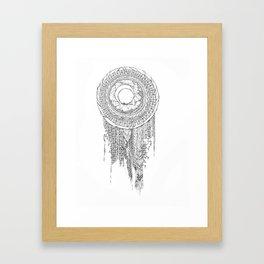 Shifting Moon Tide Dream Catcher Mandala Framed Art Print