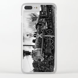 Southern Pacific Steam Locomotive Near Kearney & Liberty Missouri Clear iPhone Case