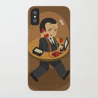 the office iPhone & iPod Cases featuring mobile office by John Holcroft