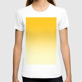Amber Orange to Cream Yellow Linear Gradient T-shirt