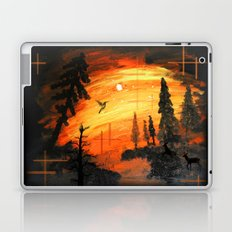 Fire Sunset Over River Laptop & iPad Skin
