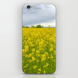Fields of Flowers in the French Countryside, Dijon, France iPhone Skin