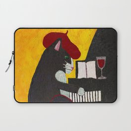 Tuxedo Cat Playing a Piano Laptop Sleeve