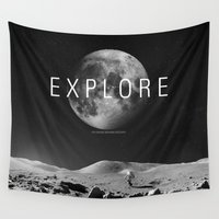explore Wall Tapestries featuring EXPLORE by openact