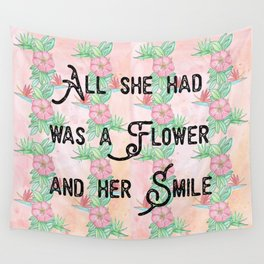 Surfer girl quotes Wall Tapestry