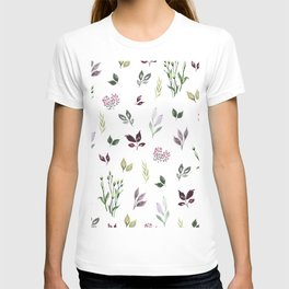 Tiny watercolor leaves T-shirt