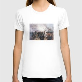 Civil War Naval Battle - Kearsarge And Alabama T-shirt