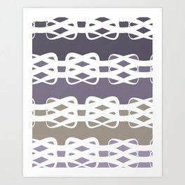 Lavender Knots Art Print