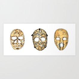 Fibreglass Masks 2 Art Print