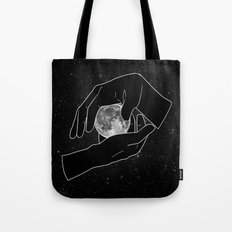Hold the Moon Tote Bag