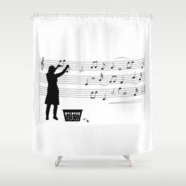 making more music Shower Curtain