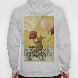 Bear on a Bike Illustration Hoody