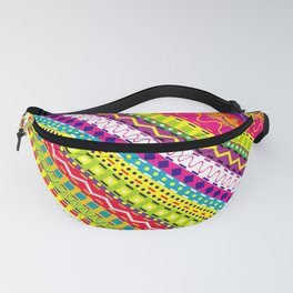Doodle texture in bright colors Fanny Pack