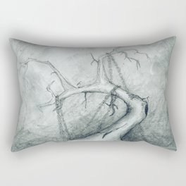 Tree Crippled by Chains Rectangular Pillow