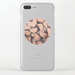 Wood Pile Clear iPhone Case