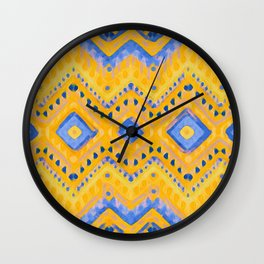 itzel - pineapple + azure Wall Clock