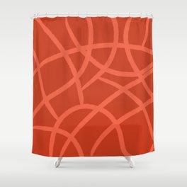 orange giraff print Shower Curtain