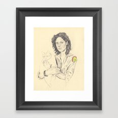 wip of Ripley with Jones Framed Art Print