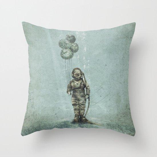 Balloon Fish Throw Pillow