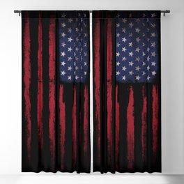 United states flag Black ink Blackout Curtain