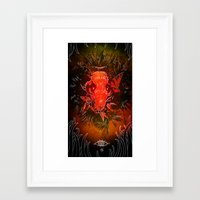 beaver Framed Art Prints featuring Beaver by voidbug