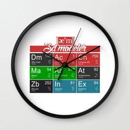 ae'm 3d modeler Wall Clock