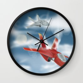 Jet Plane Dogfight Wall Clock
