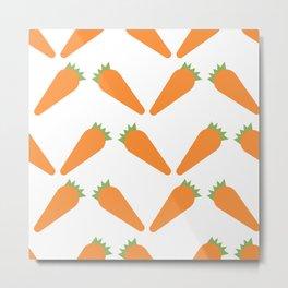 Carrots Pattern Metal Print