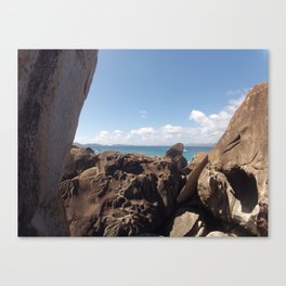 Baths, Virgin Gorda, Brittish Virgin Islands, Rock Formation Canvas Print