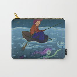 moon, fisherman and mermaid Carry-All Pouch