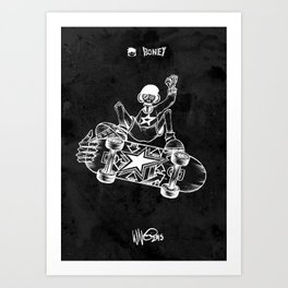 Boney Skateboarding series - 02 Art Print