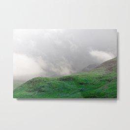 Electric Landscape I - Green Mountains Metal Print
