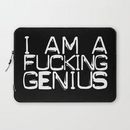 I AM A FUCKING GENIUS Laptop Sleeve