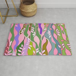 Long colored leaves Rug