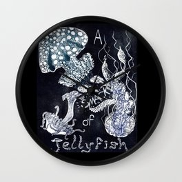 A Smack of Jellyfish Wall Clock