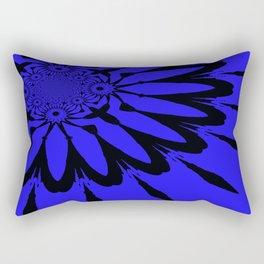 The modern flower Royal Blue Rectangular Pillow