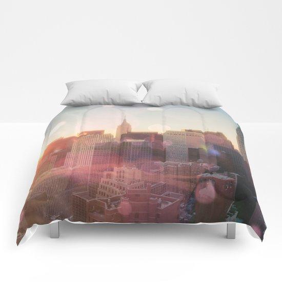 New York City Skyline Love Comforters