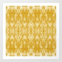 Golden Tie-Dye / Sunshine Abstraction Art Print