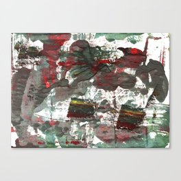 Dark liver abstract watercolor Canvas Print