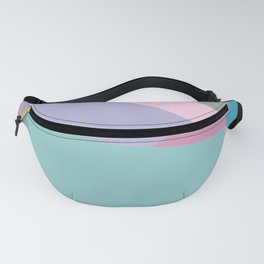 Fractured Triangles in Playful Color Fanny Pack