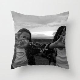 Native Girl Magic Throw Pillow