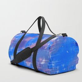 painting texture abstract background in blue pink Duffle Bag