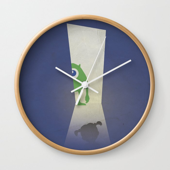 Monsters Inc Walt Disney Alternative Movie Poster Wall Clock By
