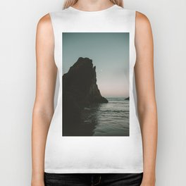 Oregon Coast Dark Ocean Biker Tank