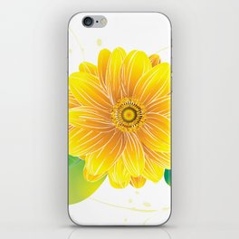Helianthus - The Color of Vitality, Intelligence and Happiness iPhone Skin