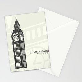 Elizabeth tower clock big Ben in London Stationery Cards