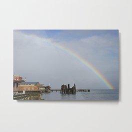 A Rainbow in Port Townsend Metal Print